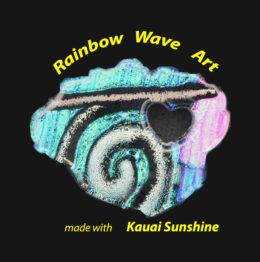 Rainbow Wave Art - Dichroic Glass Originals  logo